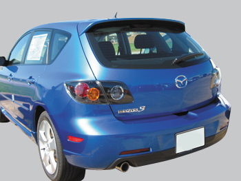 2004 Mazda 3 Hatchback >> Mazda 3 Hatchback Factory Style Spoiler 2004 2009