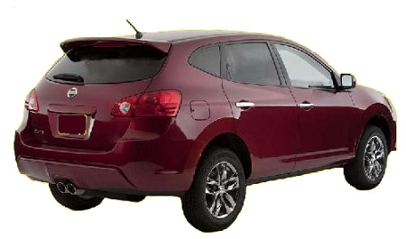 nissan rogue factory style spoiler 2008-2017