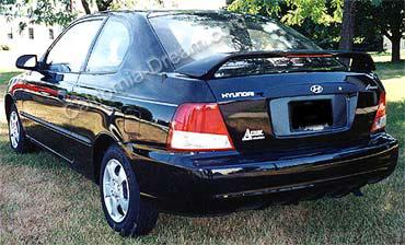 hyundai accent 3dr custom style spoiler 2001 2002 spoiler express