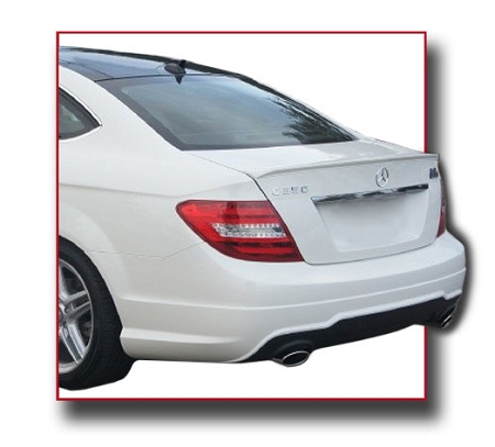 mercedes c class 2 door coupe factory style spoiler 2012 2015. Black Bedroom Furniture Sets. Home Design Ideas