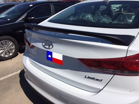 Hyundai Elantra 2-Post Lighted Custom Spoiler 2017-2018