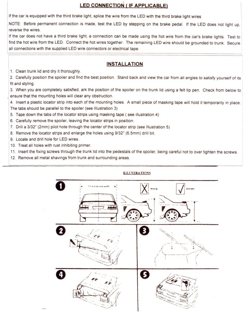 instructions for a heatwave spoiler