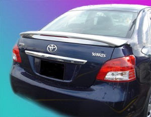 Toyota Yaris 4-Door Sedan Custom Style Spoiler 2006-2012