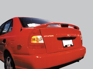 Hyundai Accent 4dr. Factory Style Spoiler 2000-2002