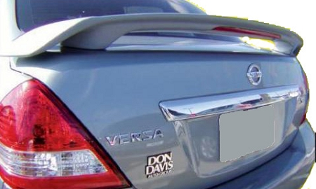 Nissan Versa 4-Door Sedan Custom Style Spoiler with Light 2007-2011