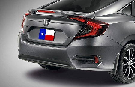 Honda Civic 4-Door Sedan Factory Style Spoiler 2016-2021