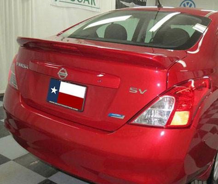 Nissan Versa 4-Door Sedan Factory Style Spoiler 2013-2018 with light